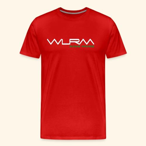 WLRM Schriftzug white png - Männer Premium T-Shirt