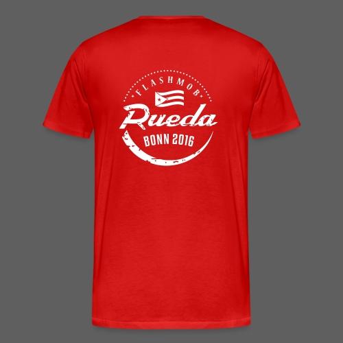 Rueda flashmob Logo_weiss - Männer Premium T-Shirt