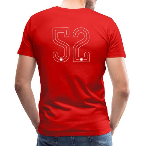 52 Outline Number by Pelibol ™ - Männer Premium T-Shirt