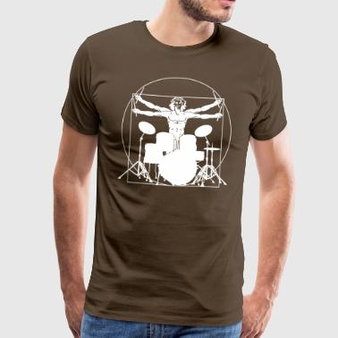 Da Vinci trummor - Premium-T-shirt herr