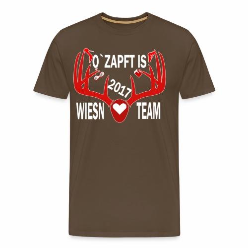 Wiesen Team Das Oktoberfestshirt - Männer Premium T-Shirt
