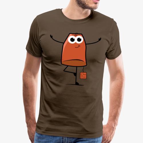 Vorsicht ich bin in Chai Tea trainiert - Männer Premium T-Shirt