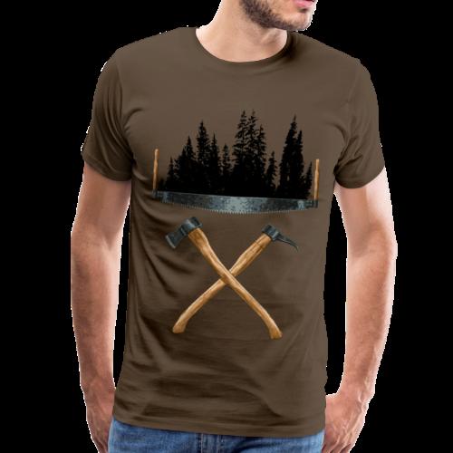Werkzeuge der alten Forstwirte - Männer Premium T-Shirt