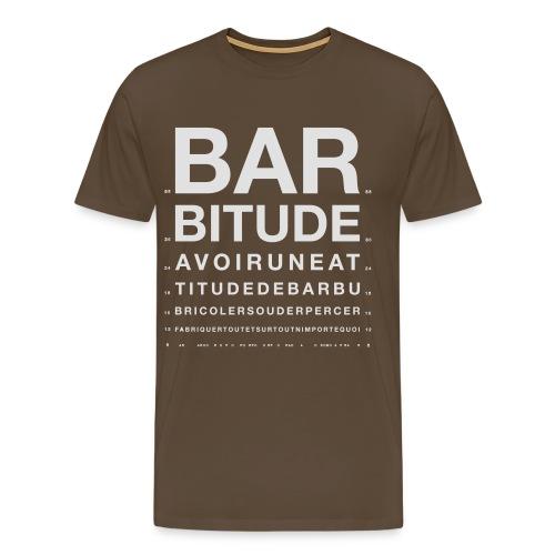 barbitude ophtalmo blanc - T-shirt Premium Homme