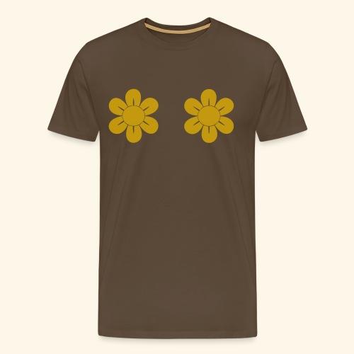 Retro Blomster - Herre premium T-shirt