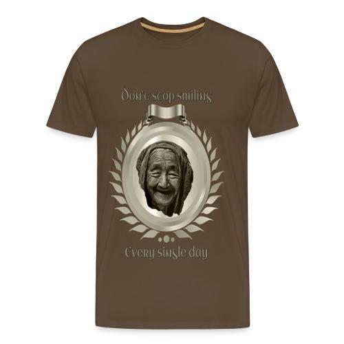 Höre nicht auf zu lächeln 1 Titan - Männer Premium T-Shirt