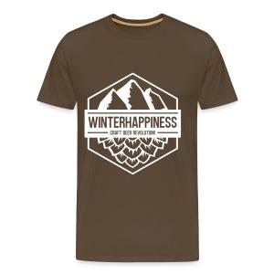 Winterhappiness Logo - Premium T-skjorte for menn