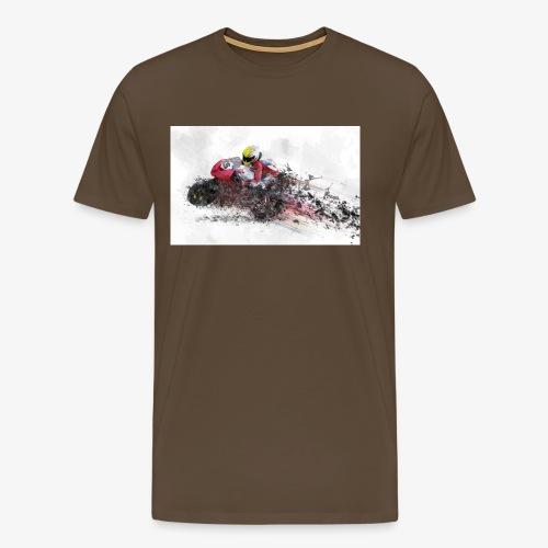 Motorradrennen. Das Geschenk für Motorradfans - Männer Premium T-Shirt