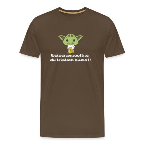 Weizensmoothie YODA - Männer Premium T-Shirt