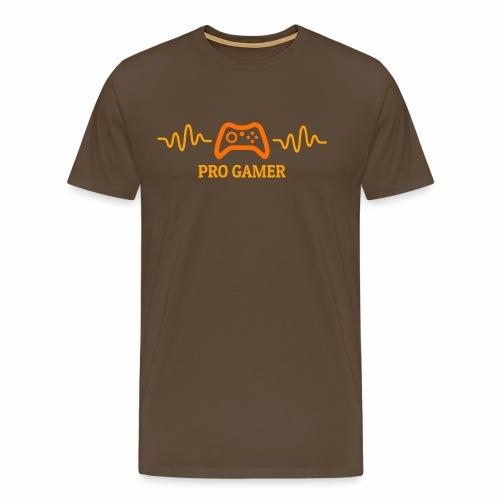 Pro Gamer Heartbeat - Männer Premium T-Shirt