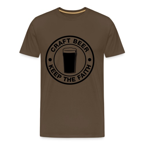 Craft beer, keep the faith! - Männer Premium T-Shirt