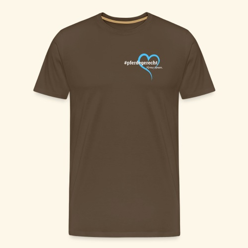 #pferdegerecht weiß Name - Männer Premium T-Shirt