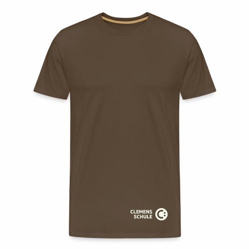 Männer Premium T-Shirt - Schule,Clemens Schule,weiß,CLEMENS,Logo