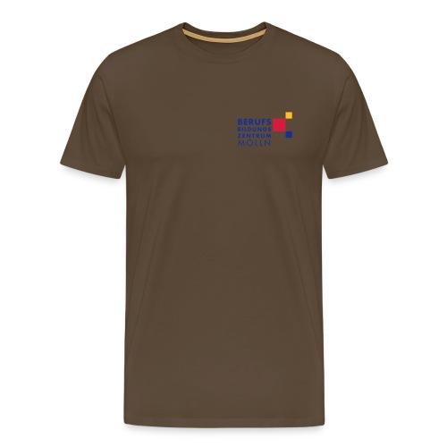 BBZ Logo blaue Schrift Schulkleidung.eps - Männer Premium T-Shirt