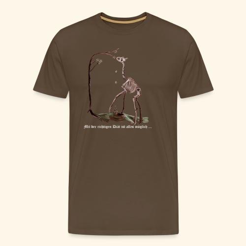 Mit der richtigen Diät ist alles möglich. - Männer Premium T-Shirt