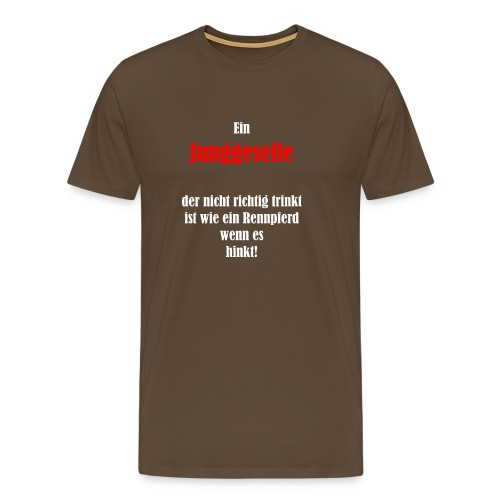 Der trinkende Junggeselle - Männer Premium T-Shirt