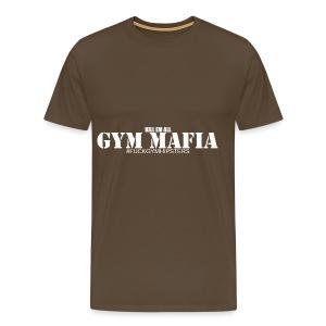 gym_mafia_white - Koszulka męska Premium