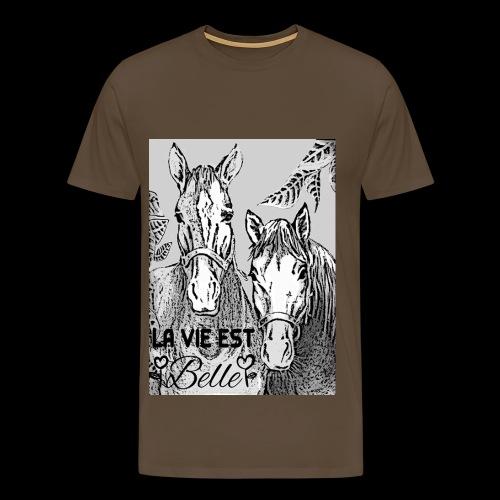 LA VIE EST BELLE - T-shirt Premium Homme
