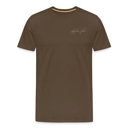 saftig, heiss & lecker (schlammfarbig) - Männer Premium T-Shirt