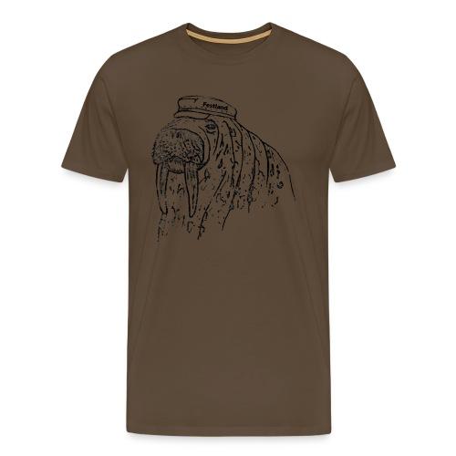 festland walrus - Männer Premium T-Shirt