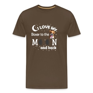 I love my Boxer to the Moon and back - Men's Premium T-Shirt