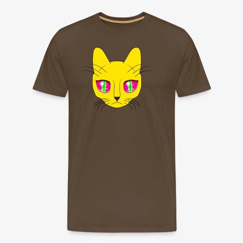 Die Katze mit den großen Augen - Männer Premium T-Shirt