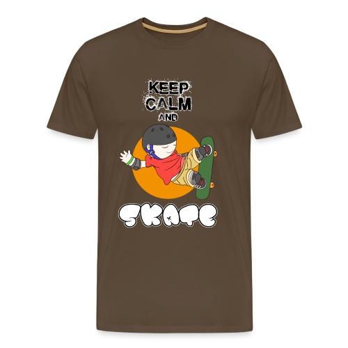 KEEP CALM AND SKATE - Camiseta premium hombre
