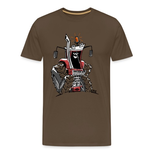 case 856XL kleur zonder wielen - Mannen Premium T-shirt