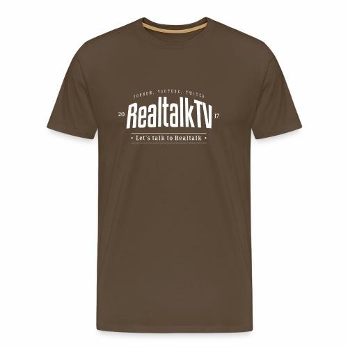 realtalk logo weiss - Männer Premium T-Shirt