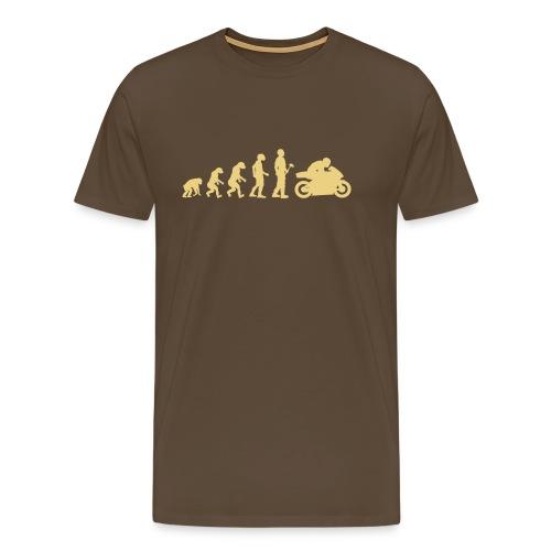 Evolutionstheorie Motorrad Rennmaschine - Männer Premium T-Shirt