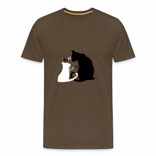 purr love - Männer Premium T-Shirt