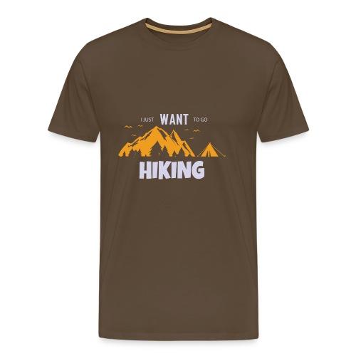 Wandern Berge Zelt Wald Natur Entspannung Geschenk - Männer Premium T-Shirt