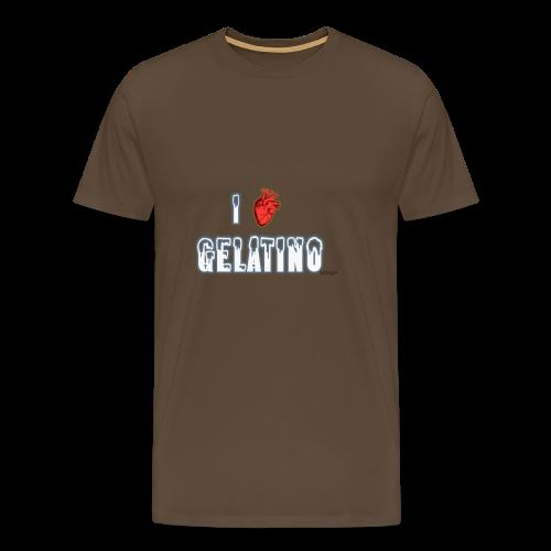 PuntoACapo - I ♥ Gelatino- - Maglietta Premium da uomo