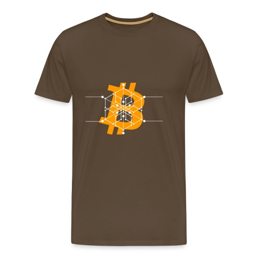 Bitcoin Krypto Buchstabe - Männer Premium T-Shirt