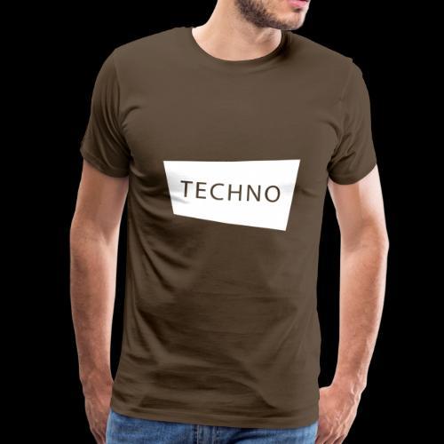 Techno Elektronik Musik Goa Shirt und Geschenk - Männer Premium T-Shirt