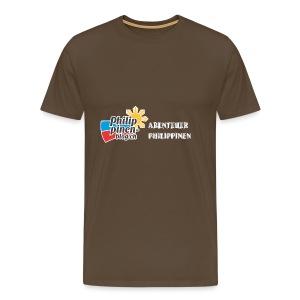 Philippinen-Blog Logo deutsch schwarz/weiss - Männer Premium T-Shirt
