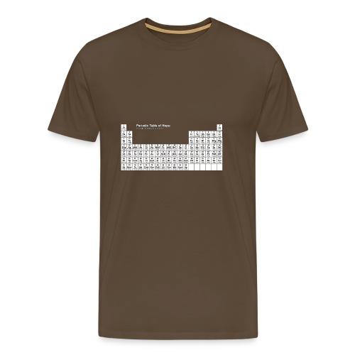 Beer Geek - The Periodic Table of Hops - Men's Premium T-Shirt