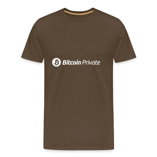Bitcoin Private Logo White - Men's Premium T-Shirt