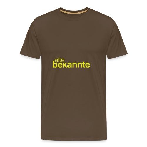 alte bekannte Logo gelb - Männer Premium T-Shirt