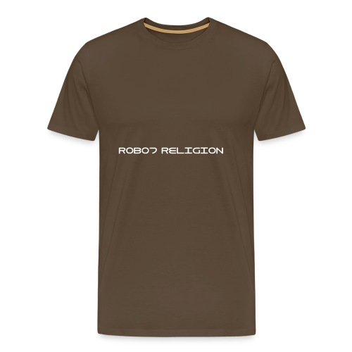 Robot Religion Text - Men's Premium T-Shirt