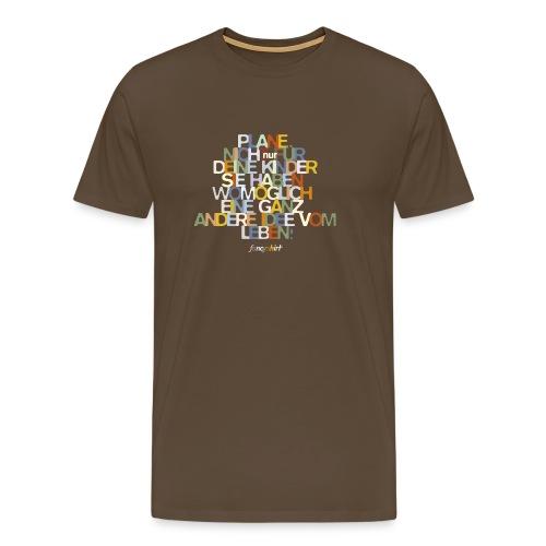 Plane nicht fuer Deine Kinder. - Männer Premium T-Shirt