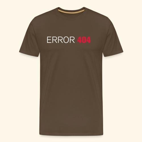 FUN GEEK SHIRT ERROR 404 - Mannen Premium T-shirt