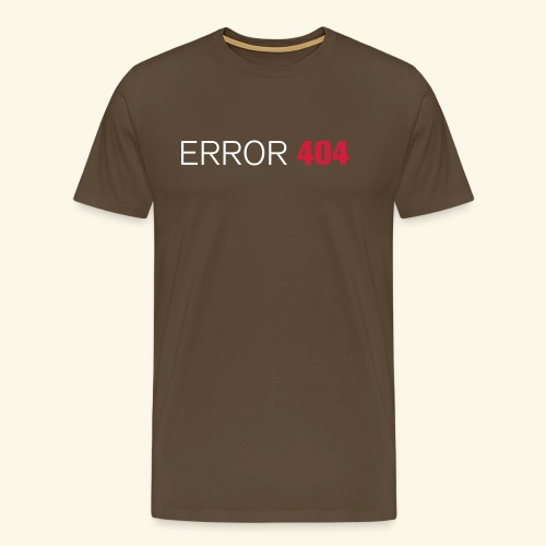 FUN GEEK SHIRT ERROR 404 - Men's Premium T-Shirt