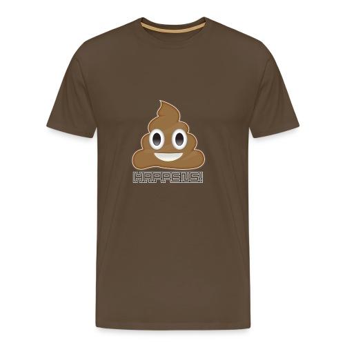 Emoji Poo Happens Funny Joke - Men's Premium T-Shirt