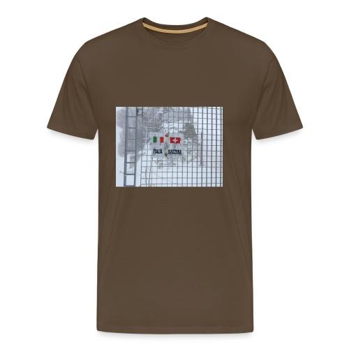 frontière italie suisse - T-shirt Premium Homme