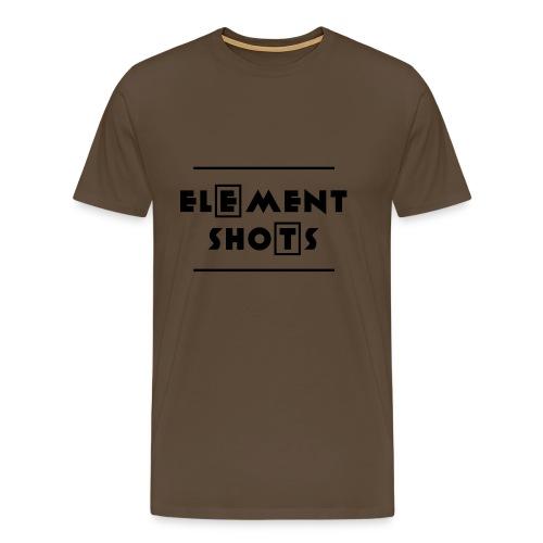 Element Shots Logo - Männer Premium T-Shirt