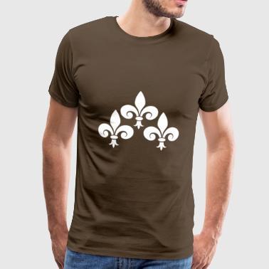 Lily kwiat lilii francuski - Koszulka męska Premium