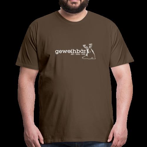 geweihbär - weiss - Männer Premium T-Shirt