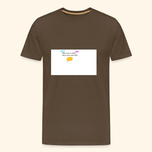 klok sitat - Premium T-skjorte for menn