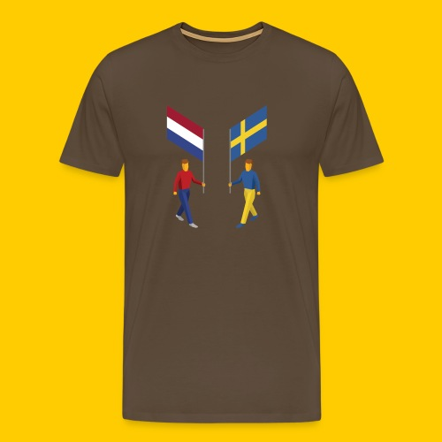Walking with flags - Mannen Premium T-shirt